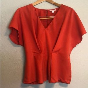 Prologue Orange Peplum Top